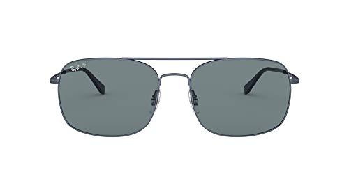 Ray-Ban 0RB3611 Gafas de sol, Matte Blue, 59 Unisex