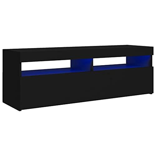 vidaXL Mobile Porta TV con Luci LED Nero 120x35x40 cm