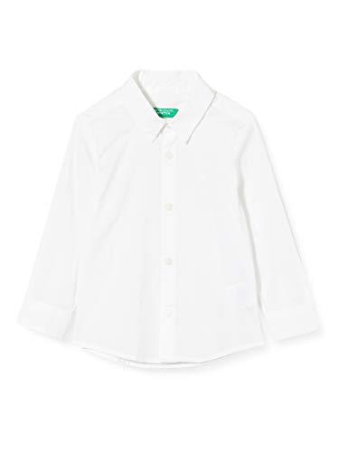 United Colors of Benetton Camicia Camisa, Blanco (Bianco 101), 86/92 (Talla del Fabricante: 2Y) para Bebés