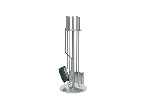 PURLINE FPA2 Juego de 4 accesorios para chimeneas o estufas de leña fabricado en acero inoxidable