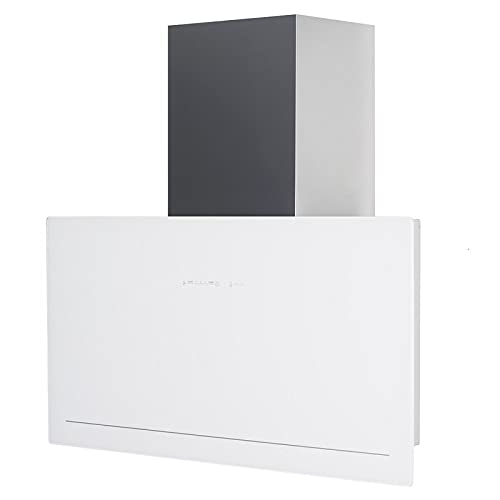 GOYA WH 70 A+ vertikale Dunstabzugshaube kopffrei weiß Glas 5 Leistungsstufen mit Nachlaufautomatik LED-Beleuchtung 40 dB(A) bis 1200 (820) m³/h (70 cm Abluft)