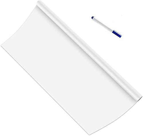 ホワイトボード シート 壁に貼ってはがせる 黒板シート100*45cm 取り付け簡単 書きやすくて消しやすい diy 壁紙・学習塾・オフィス・会議室・学校 メモ 子供 落書き 掲示板 メニューボード (ホワイト)