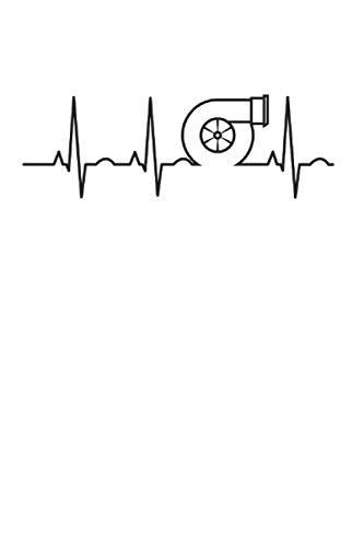 Turbolader Herzschlag Turbo Tuner Autoliebhaber KFZ Geschenk: 6x9 Notizbuch