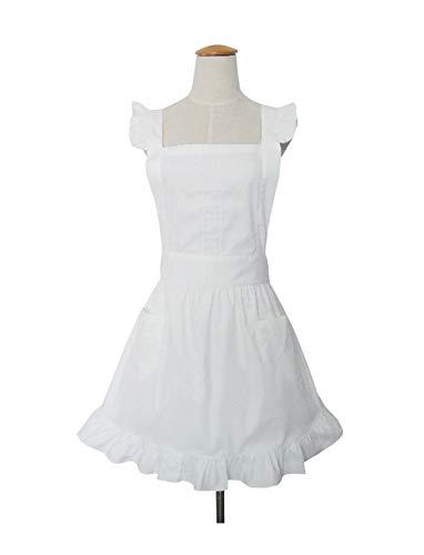 Disfraz de señora de la limpieza, delantal para la mujer de