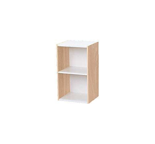 Amazon Marke - Movian 2-fach modulares MDF Bücherregal, Beige/Weiß, 35 x 29 x 60 cm
