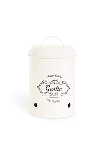 Excelsa Fine Quality - Tarro de almacenamiento de alio, metal, color crema, diámetro 11 cm