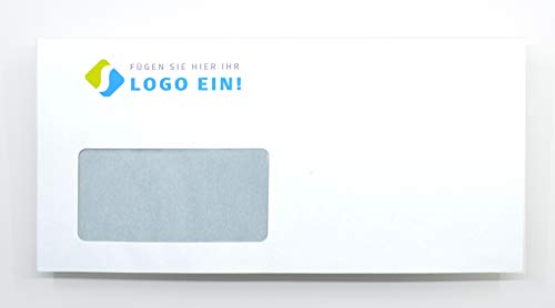 Briefumschläge bedrucken - Briefumschlag DIN lang - bedruckt mit Ihrem Logo - Briefumschlag drucken - 200 Stück - mailingdruck24