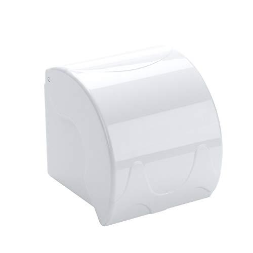 YOMESTE Wall Mounted Waterproof Paper Holder Bathroom Paper Roll Holder (Blue)