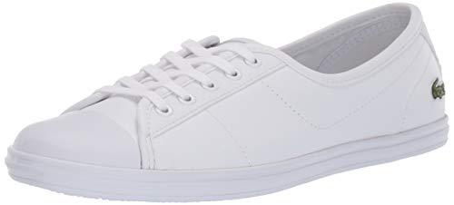 Lacoste Women's Ziane Sneaker, white, 8.5 Medium US