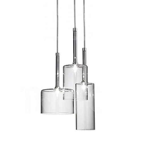 YAN FEI Accesorio de iluminación Lámpara de iluminación Colgante de Techo de 3 Luces - Lámpara Colgante Moderna de 3 vías con lámpara de Cristal - Comedor Cocina Isla Candelabro, Base G4 Bulbos LED
