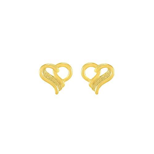 YFZCLYZAXET Pendientes Mujer Pendientes De Oro Simples con Tachuelas De Corazón De Moda Mujer-B