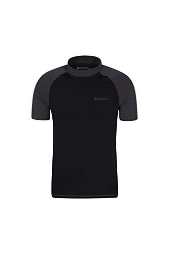 Mountain Warehouse UV-Badeshirt für Herren - Schwimmshirt mit UPF50+, schnelltrocknend, Flache Nähte UV Shirt - Ideal für Schwimmen und Tragen unter einem Schwimmanzug Dunkelgrau XL
