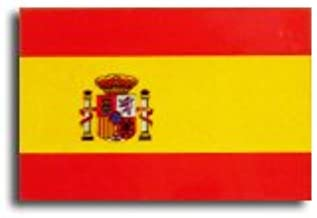スペイン  国旗 ステッカー ( 屋内 ・ 屋外 用 防水 シール ) (2S 約45mmx30mm)