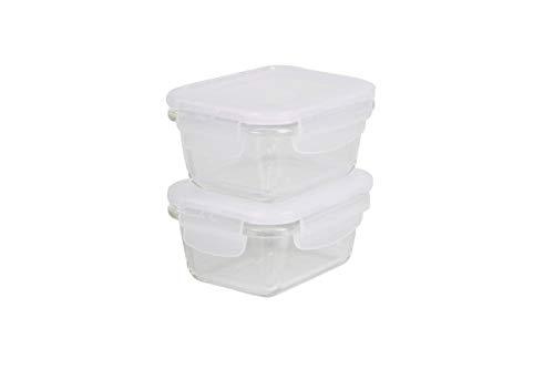 Glas-Kochgeschirr Vorratsdose Mikrowellendose Backform Auflaufform Glas, Glas-Kochgeschirr:viereckig 160 ml /2-er Set