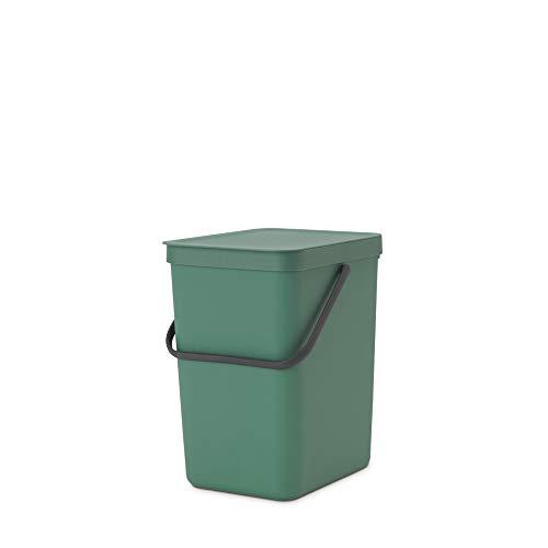 Brabantia Cubo de Basura, Verde Abeto, 25 L