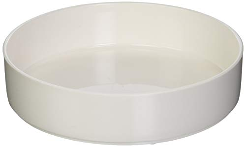 Sammons Preston High-Sided Dish, White, Durable Melamine Plastic Plate has 7.75' Diameter & 1.75' High Sides, Can Serve as Bowl or Scooping Aid, Independent Eating Tool for the Elderly, & Disabled