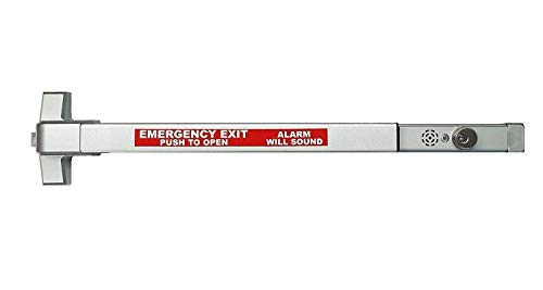 Commercial Door Push Bar Panic Exit Device with Alarm Sprayed Aluminum
