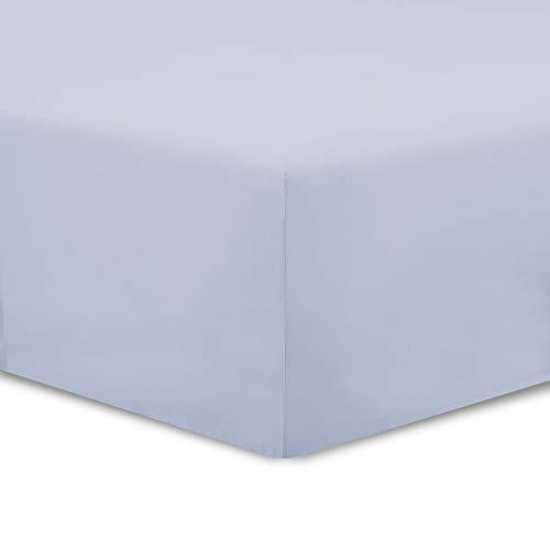VISION Drap Housse Gris Perle - 140x190cm - 100% Coton
