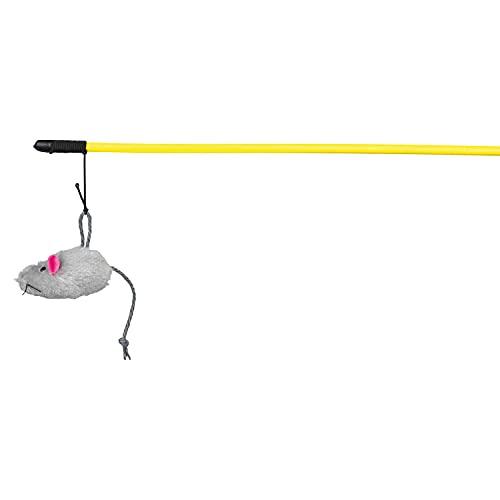 Trixie - Vara de Juego, con Ratón peluche largo, 50 cm, paquete de 4 🔥