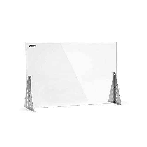 Rocada   Mampara de Metacrilato Regulable   Pantalla Protectora de Mostrador para Oficinas   1100 x 500 mm