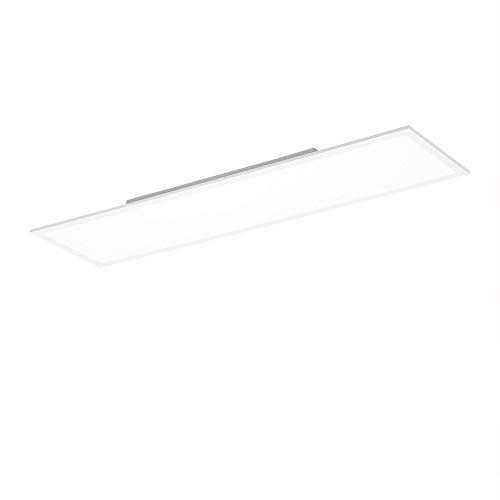 LED Panel, LED Decken-Lampe, weiß   Decken-Leuchte neutralweiss - tageslichtweiß - 4000 Kelvin, für Büro, Wohnzimmer, Küche und Bad (120x30)