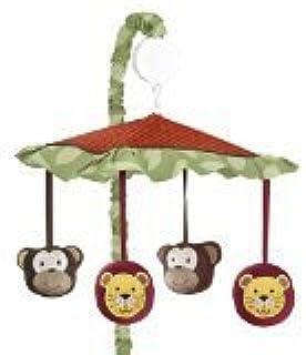 Jungle Time Musical Baby Crib Mobile by Sweet Jojo Designs [並行輸入品]