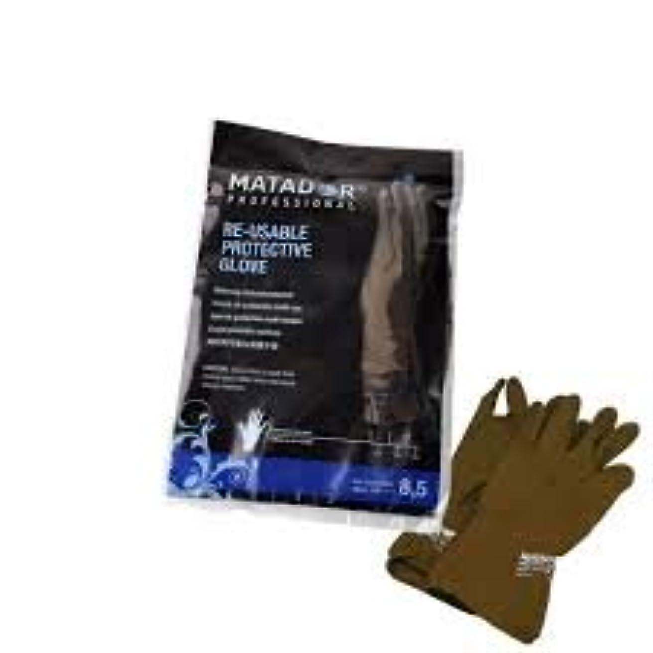 駐地ジャケット彫刻マタドールゴム手袋 8.5吋 【5個セット】