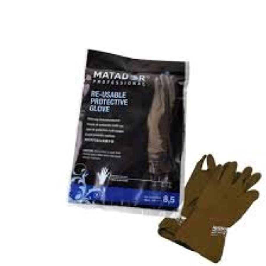 シミュレートする失足枷マタドールゴム手袋 8.5吋 【5個セット】