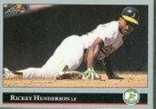 1992 rickey henderson baseball card