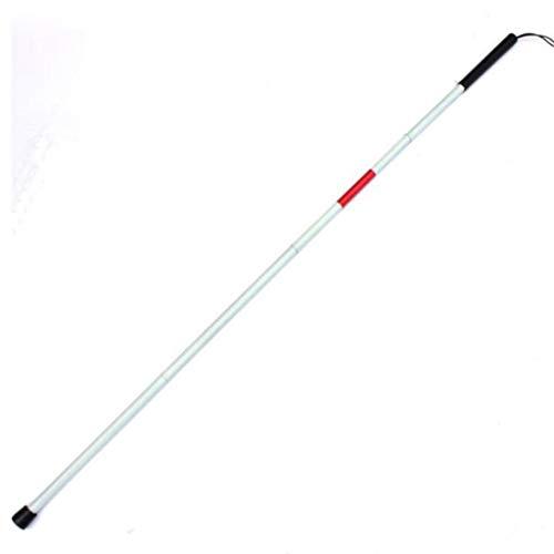 Elderly Crutches Bastones de Bastones Bastón de bastón de Trekking guía Ajustable Bastón Ciego Bastón Ciego Material de bastón Plegable: Aluminio Blanco Desgaste Rojo,White