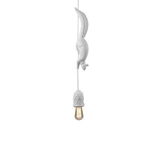 Karman Sherwood e Robin lampada a sospensione bianco opaco con scoiattolo