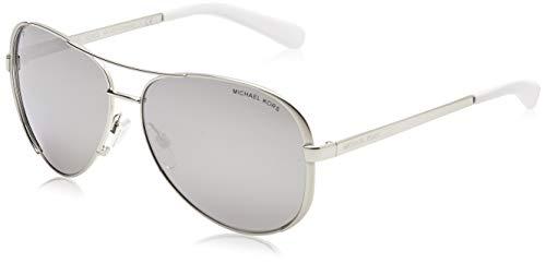 Michael Kors Damen Chelsea MK5004 Sonnenbrille, Silber (Silber-Silber verspiegelt polarisiert 1001Z3), Large (Herstellergröße: 59)