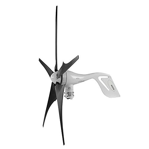 Turbina de viento casera, controlador de carga de viento ligero hoja duradera 12V/24V 400W pequeño par de arranque generador de turbina de viento para puestos estaciones meteorológicas (24V)
