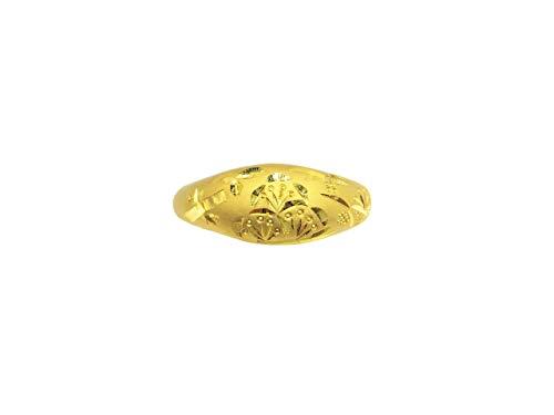 K24 24金 純金 手彫り 甲丸 松竹梅 指輪 リング 天然 ハンドメイド 17169 (14)