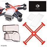 Kit de Protección CamKix Compatible con el dji Spark: Fijadores de Hélices, Bloqueo del Cardán y Protector 2 en 1, Protectores de Cámara/Sensor