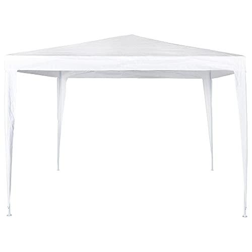 Aktive 53857 - Cenador cuadrado plástico blanco