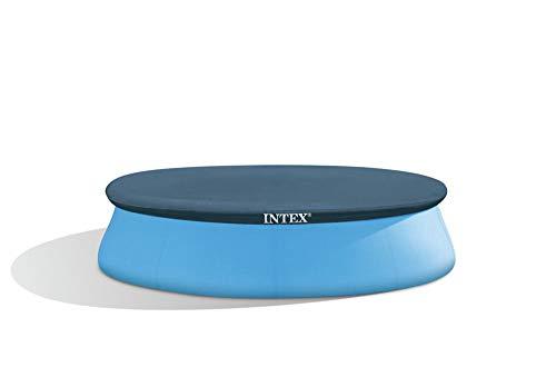 INTEX Abdeckplane für runde Easy-Pool Ø 305cm mit Schnur, langlebiger PVC, blau // Pool Schwimmbecken Abdeckung Planschbecken Sicherheitsabdeckung