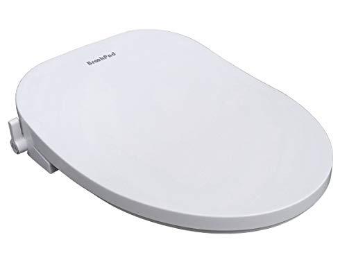 BrookPad SplashLet 300C Bidet toiletbril, achter & vrouwelijk wassen, niet-elektrische Bidet, zelfreinigende dubbele mondstukken, verstelbare spuitdruk, stil sluitend deksel en zitting