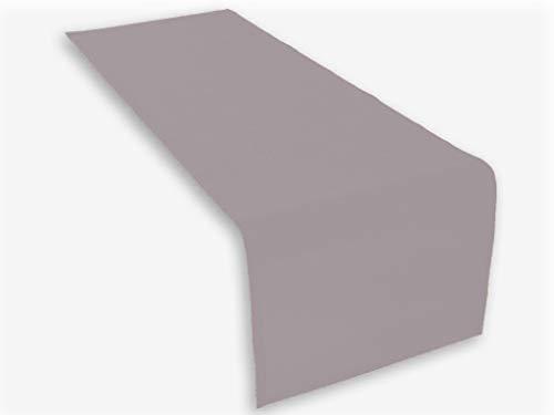 Hochwertiger Tischläufer aus Baumwolle. Tischtuch, Tischdecke. Große Auswahl an Farben. (Grau)
