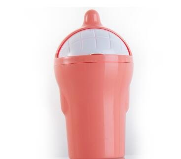 Generic Mini PP Tisch Mülleimer Kleinteile Barrel Speicher Auto Staub Esche Mülleimer Küche Arbeitsplatte Abfall Trash kann Auto Mülleimer Cute Pink 80ml