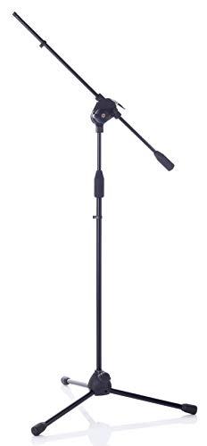 Bespeco msf01C–Soporte para micrófono con pértiga telescópica, color negro