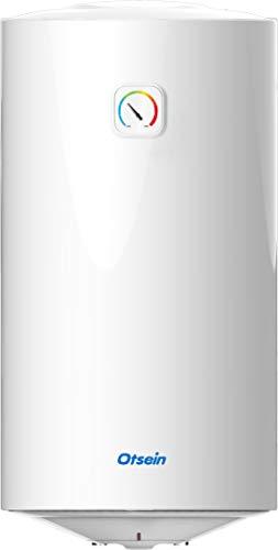 Otsein - OHTC50 - Termo eléctrico 50 litros - Instalación Vertical - Hogares pequeños - Anodo de magnesio - Dimensiones Producto: ø385 x 760mm