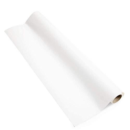 Rollo adhesivo de Pizarra Blanca y Proyección Smart - 10 m² - ideal para la oficina, cocina y mobiliario - para escribir con rotuladores y proyectar - blanco