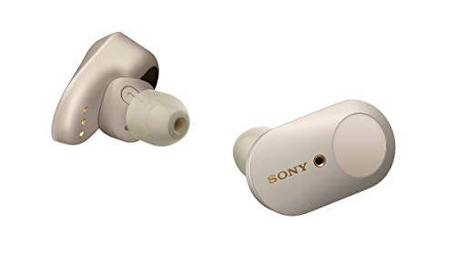 Sony WF-1000XM3 Écouteurs sans fil Bluetooth à Réduction de Bruit True Wireless avec boitier de rechargement compatibles iOS et Android, Argent, avec Amazon Alexa Intégrée