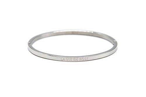bc1665F Armreif Ende Stahl Silber mit Botschaft La Vie En Rose–Modus Fantasie