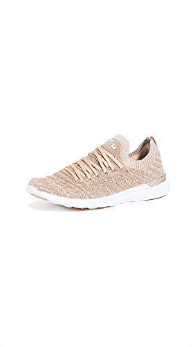 APL: Athletic Propulsion Labs Women's Techloom Wave Sneakers, Rose Gold/White, 8.5 Medium US