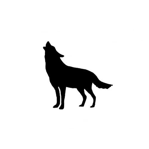 Maidi Auto-Aufkleber Wolf-Muster entfernbare Vinyl-Aufkleber Aufkleber Steckdose und Stecker-Adapter für Laptop-Tablette Helm Windows-Wand-Dekor-Auto-LKW-Motorrad-Schwarz