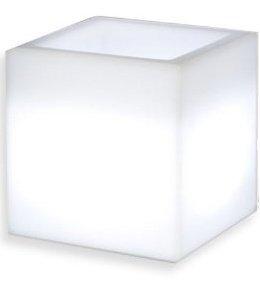 Maceteros con luz, led, 40x40cm, multicolor recargable portátil