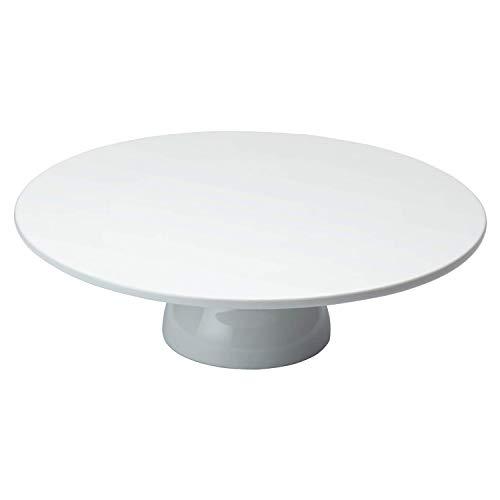 KitchenCraft Sweetly Does It - Soporte Blanco para Tarta en Caja de Regalo, Porcelana, 30,5 x 30,5 x 10 cm
