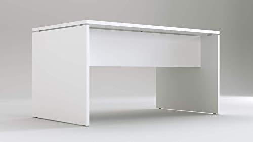 Scrivania per ufficio o casa Bianca | Larghezza 140 cm | Profondità 80 | Altezza 74 cm